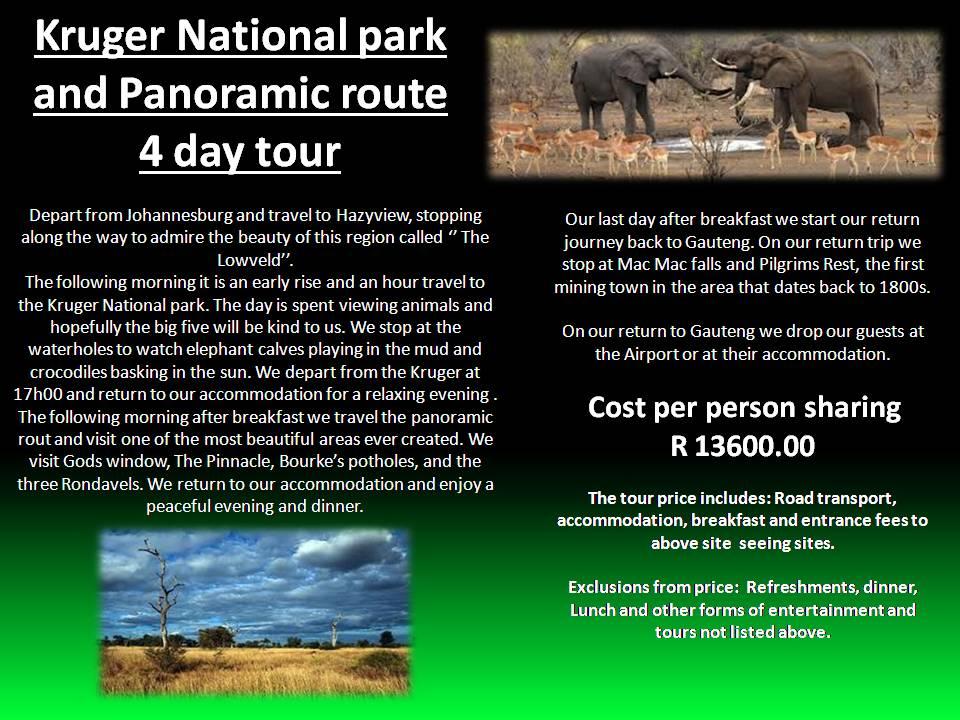 entrance fee kruger national park